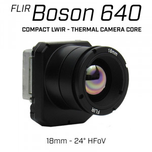 Teledyne FLIR BOSON 640 x 512 18mm 24° HFoV - LWIR Radiometric Thermal Camera Core